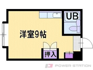 野幌1Rアパート図面