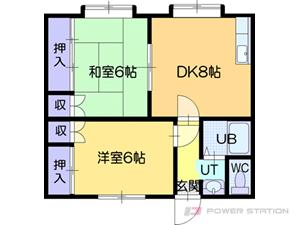 江別市大麻沢町0賃貸アパート間取図面