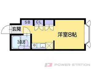 江別市文京台東町0賃貸マンション間取図面