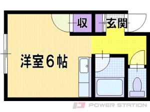 大麻1Rアパート図面