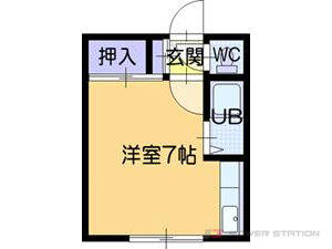 江別市文京台東町1賃貸アパート間取図面