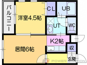 江別市文京台1賃貸マンション間取図面