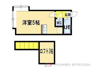 江別市文京台南町1賃貸アパート間取図面