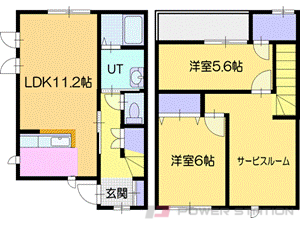江別市萌えぎ野中央1テラスハウス間取図面