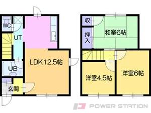 江別市一番町0テラスハウス間取図面