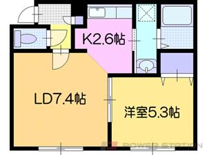 江別市大麻桜木町01賃貸アパート間取図面