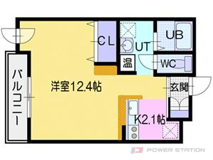 江別市文京台0賃貸マンション間取図面
