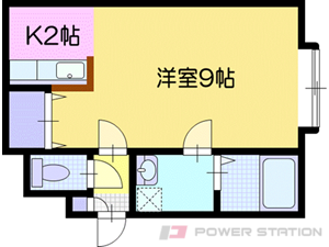 江別市大麻泉町0賃貸アパート間取図面