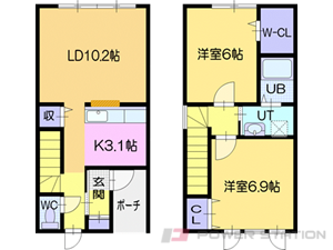 ルミエール緑ヶ丘A:1・3・6号室(2LDK)