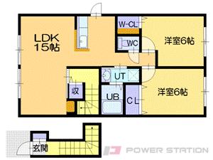 江別市4条6丁目1賃貸アパート間取図面