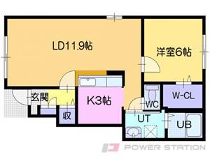 江別市元町0賃貸アパート間取図面