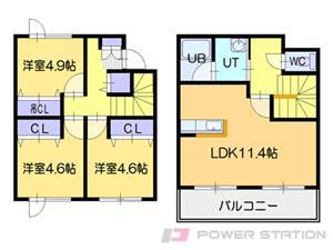 メニーズコート東江別:B号室