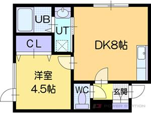 江別市8条7丁目0賃貸アパート間取図面