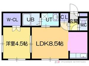江別市大麻泉町11賃貸アパート間取図面