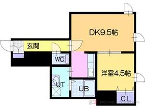 江別市高砂町01賃貸アパート間取図面