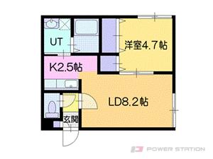 江別市野幌町0賃貸アパート間取図面