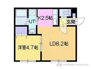 江別市野幌町01賃貸アパート間取図面