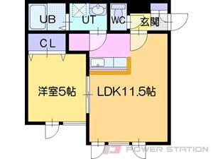 江別市向ヶ丘1賃貸アパート間取図面