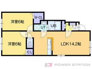 江別市一番町0賃貸アパート間取図面