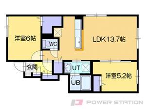江別市元町1賃貸アパート間取図面