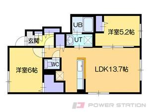 江別市元町1賃貸アパート