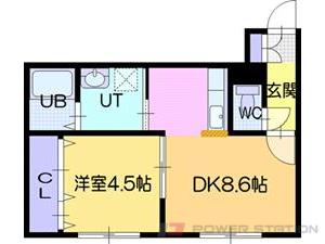 江別市向ヶ丘01賃貸アパート間取図面
