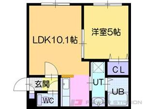 江別市5条7丁目01賃貸アパート間取図面