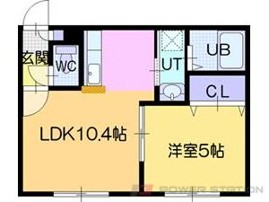 江別市5条7丁目0賃貸アパート間取図面