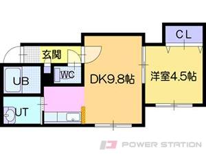 江別市東野幌町0賃貸アパート間取図面