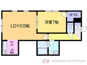 江別市文京台南町0賃貸アパート間取図面