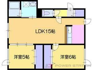 江別市大麻桜木町0賃貸アパート間取図面