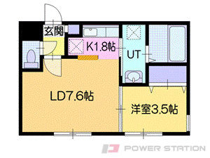 江別市東野幌本町0賃貸マンション間取図面