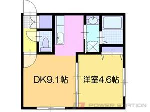 江別市向ヶ丘0賃貸アパート間取図面