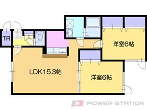 江別市高砂町0賃貸アパート間取図面