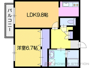 江別市文京台東町11賃貸マンション間取図面