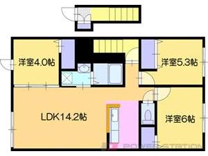 江別市上江別東町1賃貸アパート間取図面