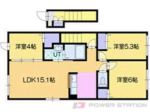 江別市野幌若葉町11賃貸アパート間取図面