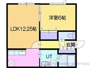 江別市対雁01賃貸アパート間取図面