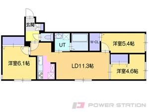 江別市野幌町11賃貸マンション間取図面