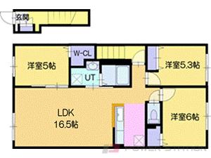 江別市上江別西町11賃貸アパート間取図面