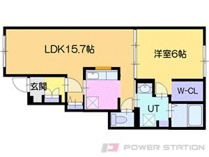 江別市野幌若葉町01賃貸アパート間取図面