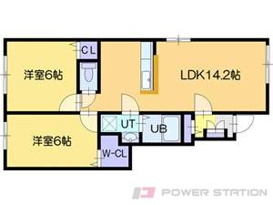 江別市野幌美幸町01賃貸アパート間取図面