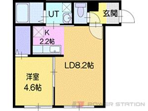 江別市野幌松並町01賃貸アパート間取図面