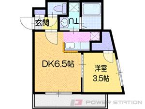 江別市野幌町01賃貸マンション間取図面