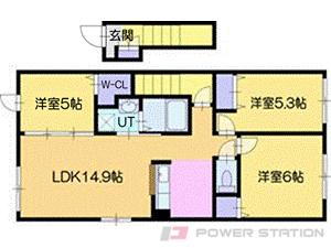 江別市大麻元町11賃貸アパート間取図面