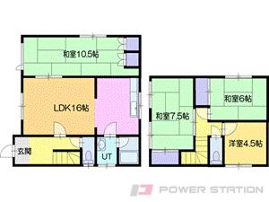 江別市緑町東3丁目0一戸建貸家間取図面