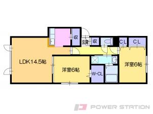 アパート・仮)ラ・シュエット上江別西町