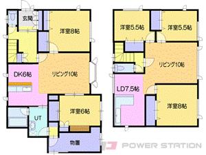 一戸建貸家・戸建 東野幌274-8
