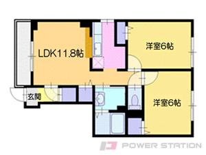 余市2LDKアパート図面