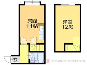 東区役所前1LDKアパート図面